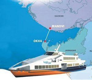 Okha-to-Mandvi-Distance