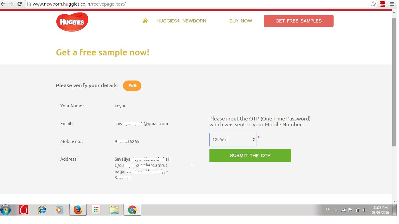 get a free sample - Huggies Newborn Diapers - keyur savaliya's ...